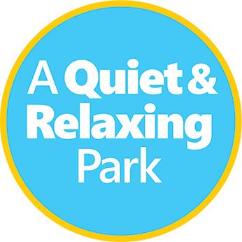Quiet and relaxing park emblem