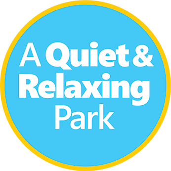 Quiet and relaxing park emblem